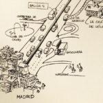 Detalle de uno de nuestros mapas para bodas