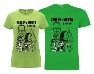 camisetas de chica y chico para grupos