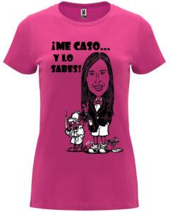 Camisetas de despedida de soltera con frases célebres de la novia