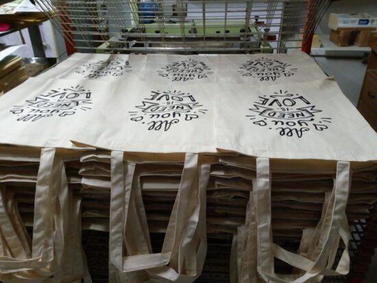 Serigrafía sobre bolsas de tela